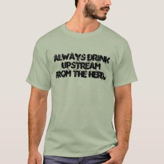 Alltid drink upstream från herd.en tröja