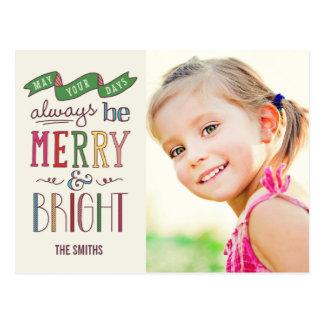 Alltid glad vykort för helgdagfotokort