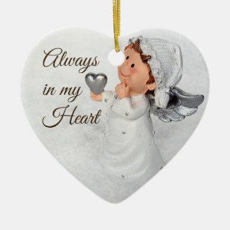 Alltid i min hjärtaprydnad julgransprydnad keramik