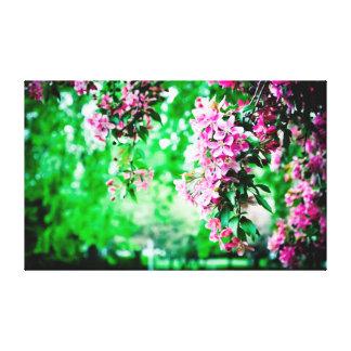 Alltid ny vår blommor canvastryck