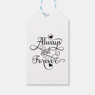 Alltid och för evigt, bröllop eller valentin dag presentetikett
