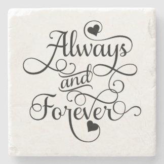 Alltid och för evigt, bröllop eller valentin dag stenunderlägg