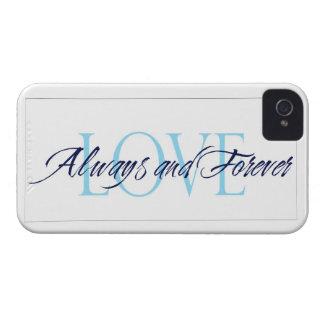 Alltid och forever loveiphone case iPhone 4 Case-Mate fodraler