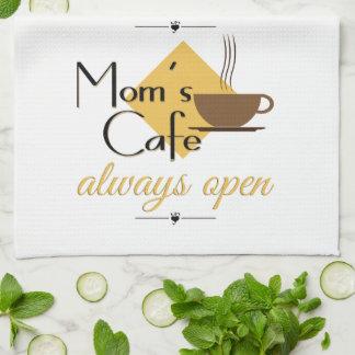 Alltid öppna mamma Cafe Kökshandduk