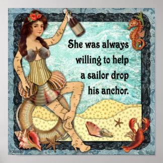 Alltid villigt att hjälpa en sjöman poster