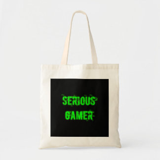 Allvarlig Gamer - grönt Budget Tygkasse
