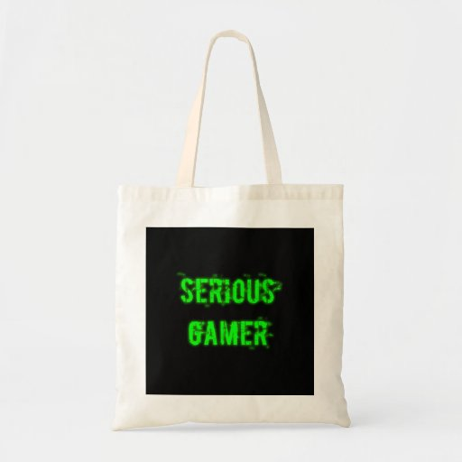 Allvarlig Gamer - grönt Tote Bags