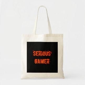 Allvarlig Gamer - orange Tygkasse