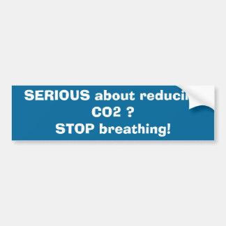 ALLVARLIGT om förminskande CO2? STOPPA att andas! Bildekal