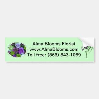 Alma blommar den purpurfärgade buketten bildekal