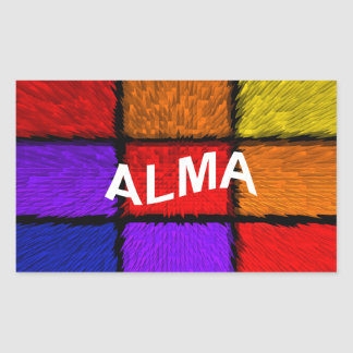ALMA (kvinnliga namn) Rektangulärt Klistermärke