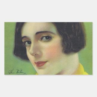 Alma Rubens 1922 tyst filmaktris Rektangulärt Klistermärke