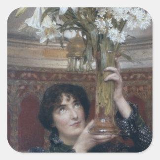 Alma-Tadema | en flagga av Stillestånd, 1900 Fyrkantigt Klistermärke