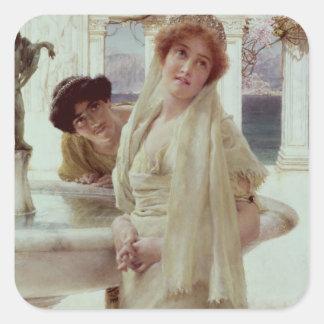 Alma-Tadema | en meningsskiljaktighet Fyrkantigt Klistermärke