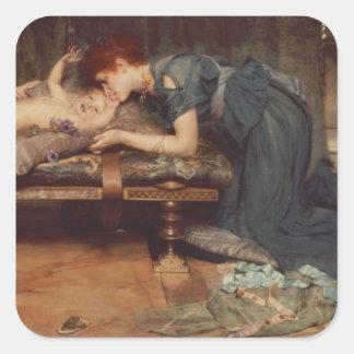 Alma-Tadema | ett jordiskt paradis, 1891 Fyrkantigt Klistermärke