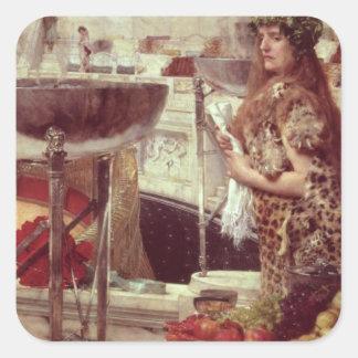 Alma-Tadema | förberedelser i Colosseumen, 1912 Fyrkantigt Klistermärke