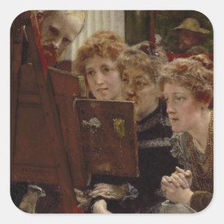 Alma-Tadema | per familjgruppen, 1896 Fyrkantigt Klistermärke