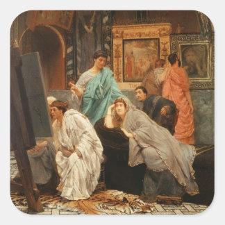Alma-Tadema | samlare på Time av Augustus Fyrkantigt Klistermärke