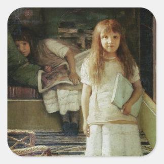 Alma-Tadema | som denna är vår, tränga någon, 1873 Fyrkantigt Klistermärke