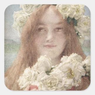 Alma-Tadema | sommar som erbjuder, 1894 Fyrkantigt Klistermärke