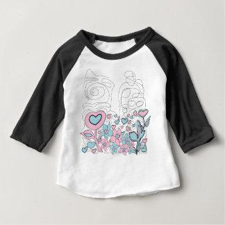 Aloha amerikandräkt 3/4 sleeveRaglanT-tröja T Shirt