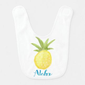 Aloha ananasvattenfärghaklapp hakklapp