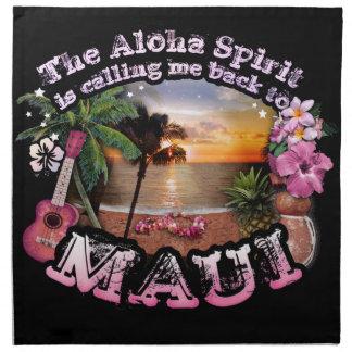 Aloha anden kallar mig baksida till Maui Tygservett