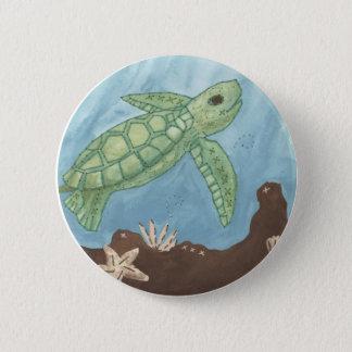 Aloha babyhavssköldpadda standard knapp rund 5.7 cm