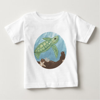 Aloha babyhavssköldpadda t-shirts