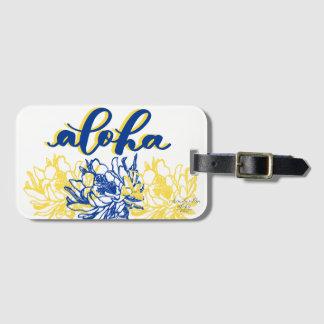 Aloha för Cereusbagage för blått gula märkre Bagagebricka