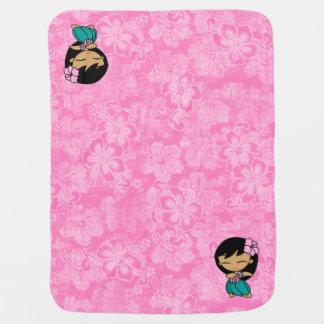 Aloha för Hula för honungar rosa hibiskus för Bebisfilt