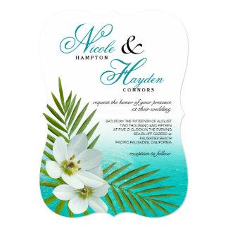 Aloha gifta sig för blommor för strand tropiskt 12,7 x 17,8 cm inbjudningskort