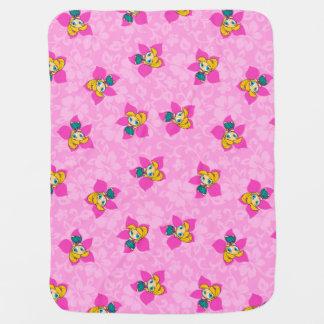 Aloha hawaiansk rosa Pareau Hula för honungar Bebisfilt