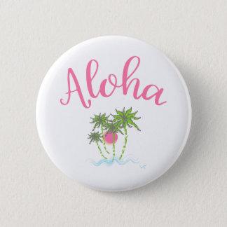 Aloha hawaiansk stil Summera för stränder Standard Knapp Rund 5.7 Cm