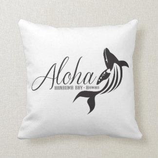 Aloha Hawaii öar och val Kudde