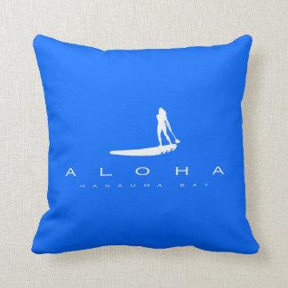 Aloha Hawaii stativ som paddlar upp Kudde