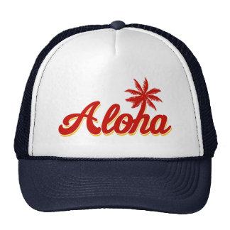 Aloha Hawaii vintagepalmträd Keps