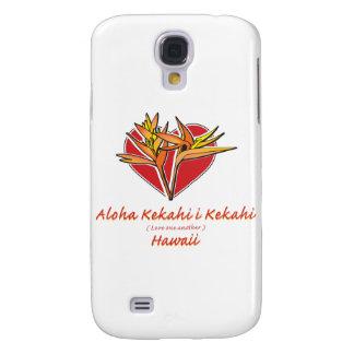 Aloha Hawaiil fågel av paradishjärta Galaxy S4 Fodral