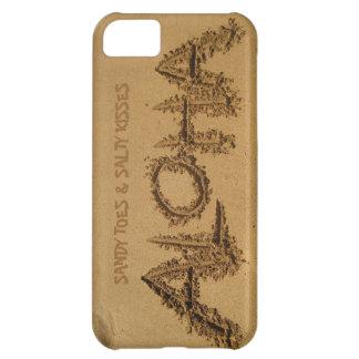 ALOHA iPhone, sandiga Toes & salt kyssar iPhone 5C Fodral