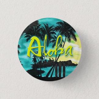 Aloha klämmer fast Aquasolnedgången Mini Knapp Rund 3.2 Cm