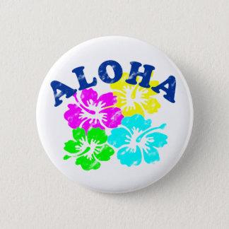 Aloha knäppas vintage Pinback gult GreenBlue för Standard Knapp Rund 5.7 Cm