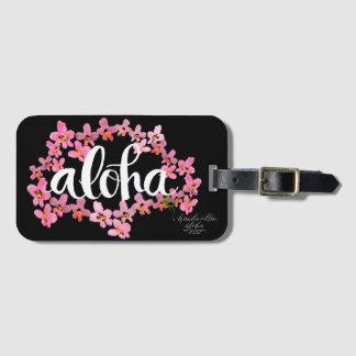 Aloha OrchidLeivit och svartbagagemärkre Bagagebricka