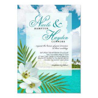 Aloha överdrar strandFauxvellängpapper bröllop 12,7 X 17,8 Cm Inbjudningskort