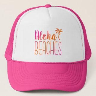 Aloha sätter på land den | rosa- och truckerkeps