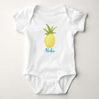 Aloha skjorta för ananasvattenfärgspädbarn tee shirt