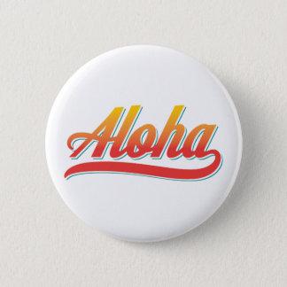 Aloha skriva (orangen och krickan) standard knapp rund 5.7 cm