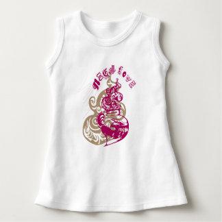 Aloha Sleeveless klänning för baby Tee Shirt