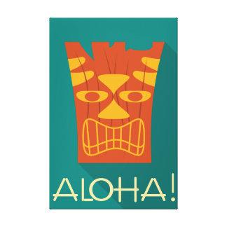 Aloha stam- hawaianska Tiki Canvastryck