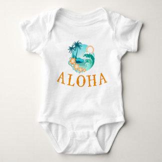 Aloha tropisk utslagsplats tee shirt
