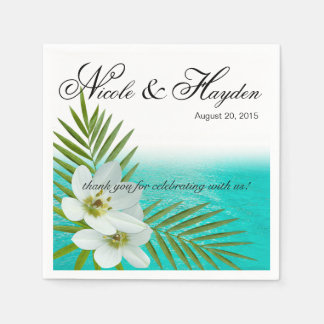 Aloha tropiska blommor för strand papper servetter